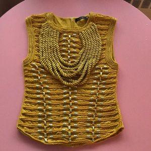 Balmain H&M gold rope blouse